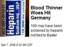 Blood Thinner Woes Hit Germany