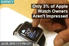 Only 3% of Apple Watch Owners Aren't Impressed