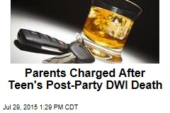 Party Hosts Charged After Teen's DWI Death