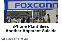 Apple's Foxconn Sees Another Apparent Suicide