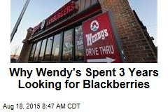 Why Wendy's Spent 3 Years Looking for Blackberries