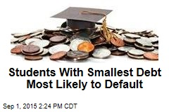 Students With Smallest Debt Most Likely to Default