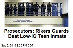 Rikers Guards Charged With Beating Teen Inmate
