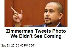 Zimmerman Tweets Photo We Didn't See Coming