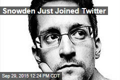 Snowden Just Joined Twitter
