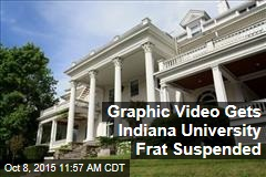 Graphic Video Gets Indiana University Frat Suspended