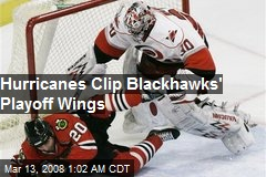 Hurricanes Clip Blackhawks' Playoff Wings