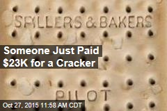 Someone Just Paid $23K for a Cracker