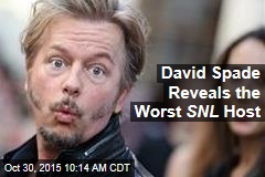 David Spade Reveals the Worst SNL Host