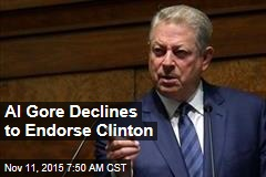 Al Gore Refuses to Endorse Clinton