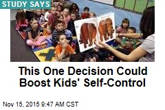 This One Decision Could Boost Kids' Self-Control
