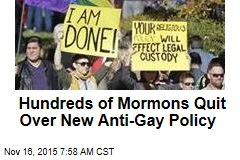 Hundreds of Mormons Quit Over New Anti-Gay Policy