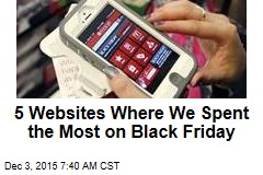 5 Websites Where We Spent the Most on Black Friday