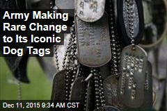Army Making Rare Change to Its Iconic Dog Tags