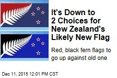 It's Down to 2 Choices for New Zealand's Likely New Flag
