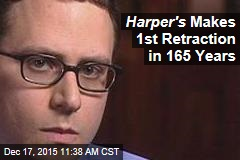 Harper's Makes 1st Retraction in 165 Years