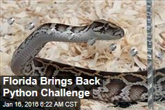 Florida Brings Back Python Challenge