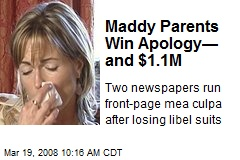 Maddy Parents Win Apology— and $1.1M