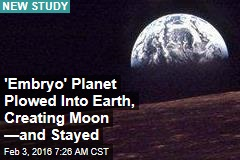 'Embryo' Planet Plowed Into Earth, Creating Moon —and Stayed