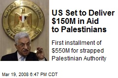 US Set to Deliver $150M in Aid to Palestinians