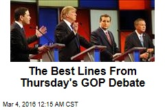 The Best Lines From Thursday's GOP Debate
