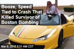 Booze, Speed Tied to Crash That Killed Survivor of Boston Bombing