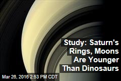 Study: Saturn's Rings, Moons Are Younger Than Dinosaurs