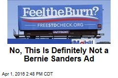No, This Is Definitely Not a Bernie Sanders Ad