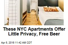 These NYC Apartments Offer Little Privacy, Free Beer