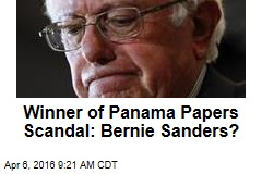 Winner of Panama Papers Scandal: Bernie Sanders?