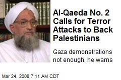 Al-Qaeda No. 2 Calls for Terror Attacks to Back Palestinians