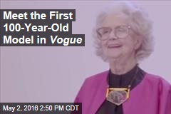 Meet the First 100-Year-Old Model in Vogue