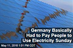 Germany Basically Had to Pay People to Use Electricity Sunday