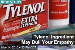 Possible New Tylenol Warning: 'May Cause a Lack of Empathy'