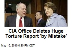 CIA Office 'Mistakenly' Deletes Huge Torture Report
