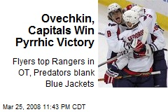 Ovechkin, Capitals Win Pyrrhic Victory