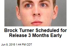 Brock Turner Scheduled for Release 3 Months Early