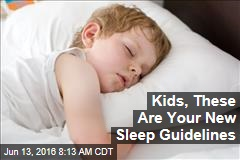 Kids, These Are Your New Sleep Guidelines