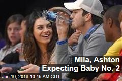 Mila, Ashton Expecting Baby No. 2