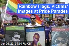 Rainbow Flags, Victims' Images at Pride Parades