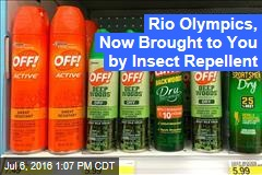 Rio Olympics, Now Brought to You by Insect Repellent