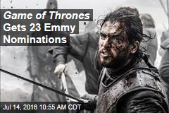 Game of Thrones Gets 23 Emmy Nominations