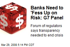Banks Need to 'Fess Up on Risk: G7 Panel
