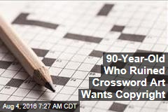 90-Year-Old Who Ruined Crossword Art Wants Copyright