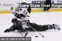 Stars Skate Over Kings