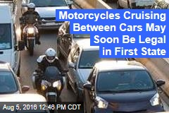 Motorcycles Cruising Between Cars May Soon Be Legal in First State