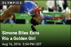 Biles Wins Floor Exercise for Record-Tying 4th Olympic Gold