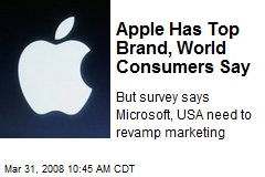 Apple Has Top Brand, World Consumers Say