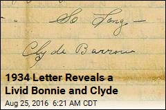 1934 Letter Reveals a Livid Bonnie and Clyde