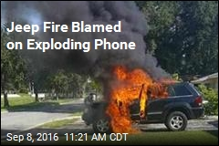 Jeep Fire Blamed on Exploding Phone